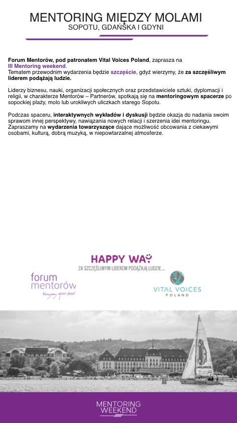 Zaproszenie na Mentoring Weekend 2018 - 02