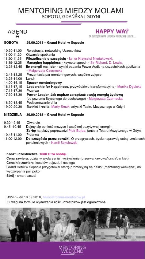 Zaproszenie na Mentoring Weekend 2018 - 03