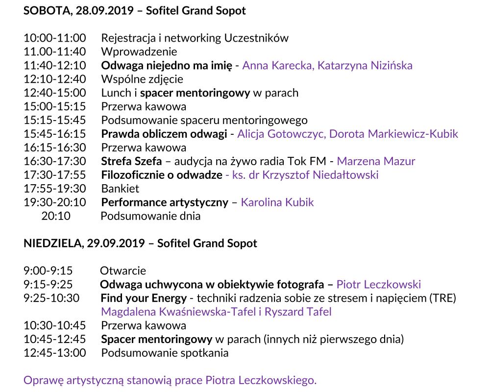 Zaproszenie Mentoring Weekend Sopot 2019 27.08.2019 na stronę www