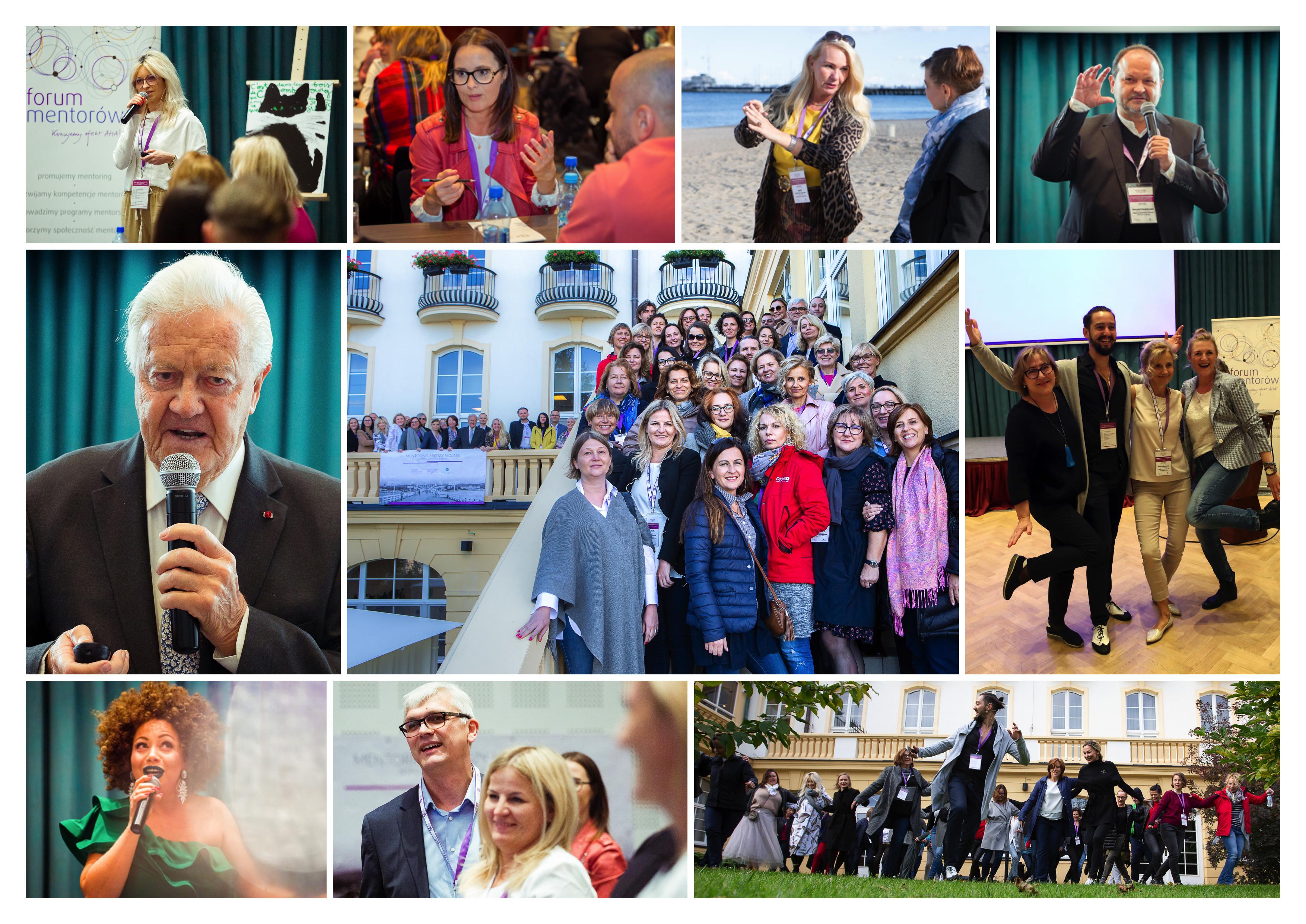Kolaż zdjęć z trzeciego Mentoring Weekendu
